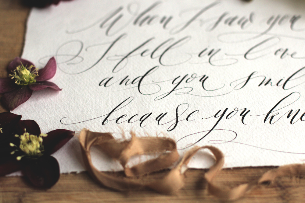 Modern Calligraphy by Lamplighter London, Westwood Design shoot