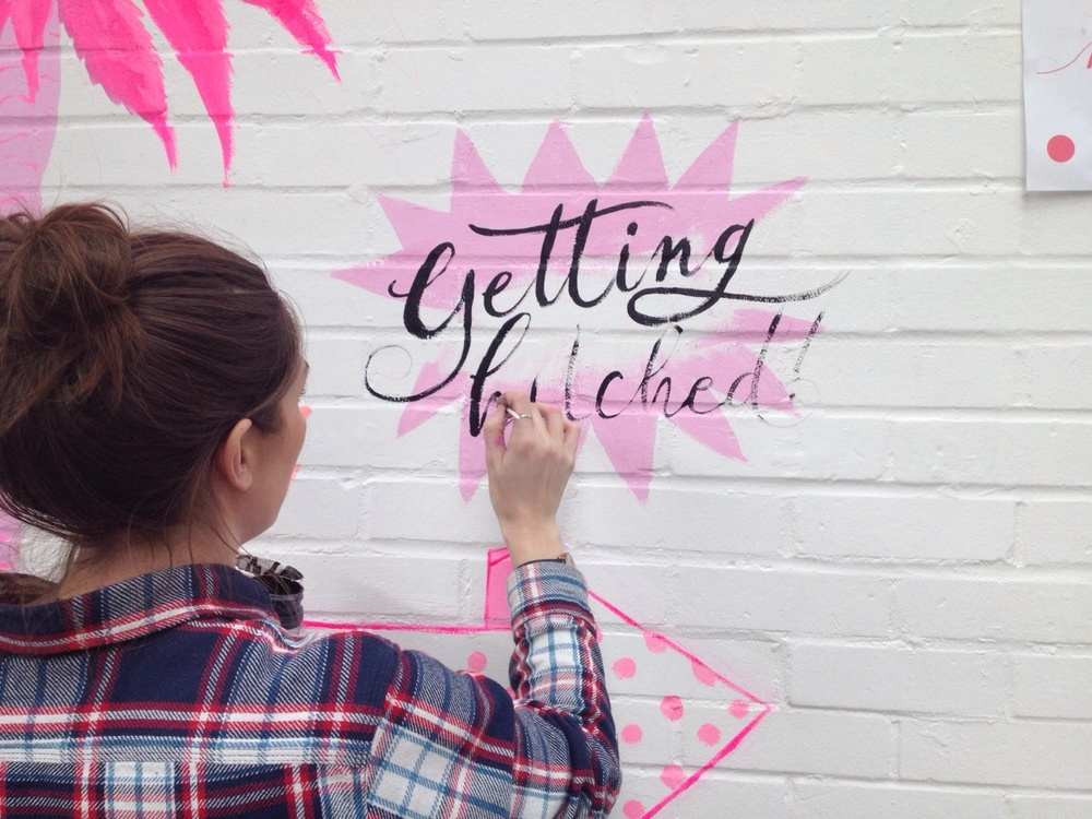 Lamplighter London Calligraphy Mural