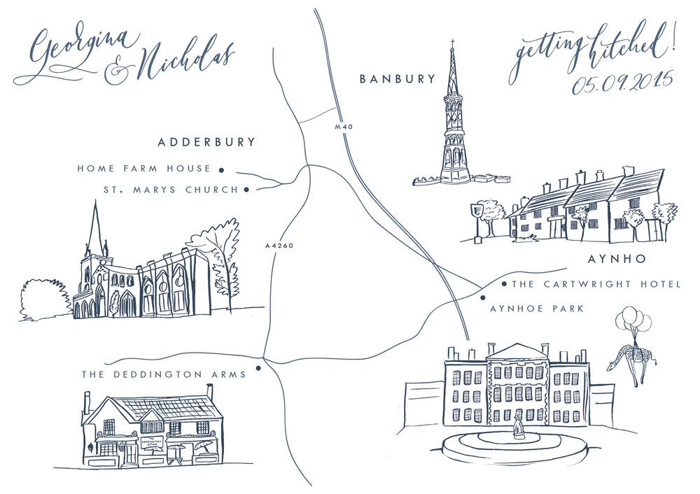 Aynhoe Park Map Wedding