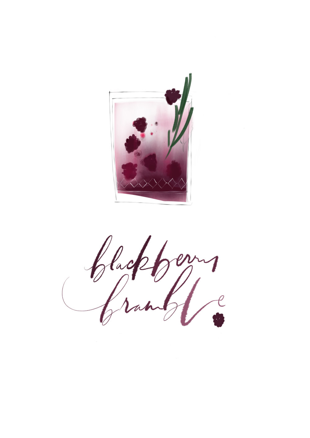 Ingredients 60ml Dry Gin 30ml Blackberry Liquor (optional) 30ml simple syrup/maple/agave 45ml lemon juice Ginger Beer or Soda Instructions - Serves 3-4 - In a cocktail shaker, muddle blackberries with gin, blackberry liquor, lemon juice and syrup until broken up and they release their juice. Double strain, using a fine mesh strainer, to remove the seeds.  Fill 3-4 glasses with ice, pour the blackberry-gin mix and top with soda or ginger beer. Garnish with a blackberry and lemon zest, if desired.