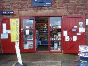 RNLI shop at Dunbar Lifeboat Station, Victoria Harbour