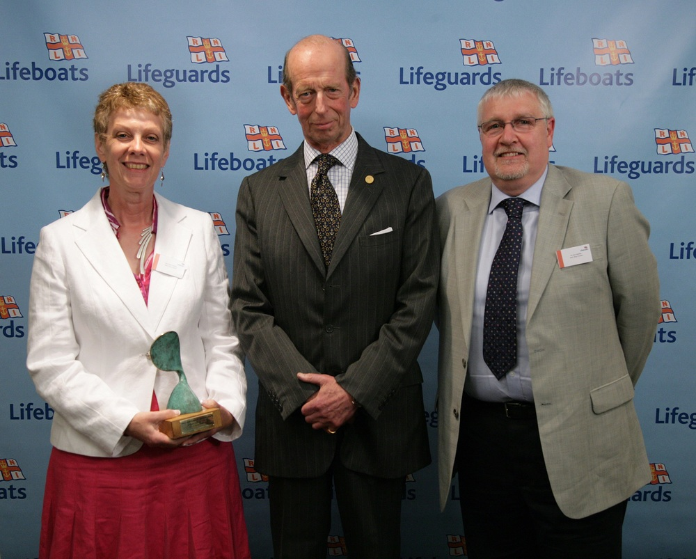 Ken Headley with his wife Marie receiving the Retail Supporter Award from HRH the Duke of Kent at the RNLI's 2009 Annual Supporter Awards
