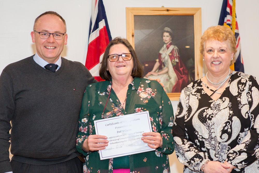 Pat Wilson (6 years service - Fundraising Committee)