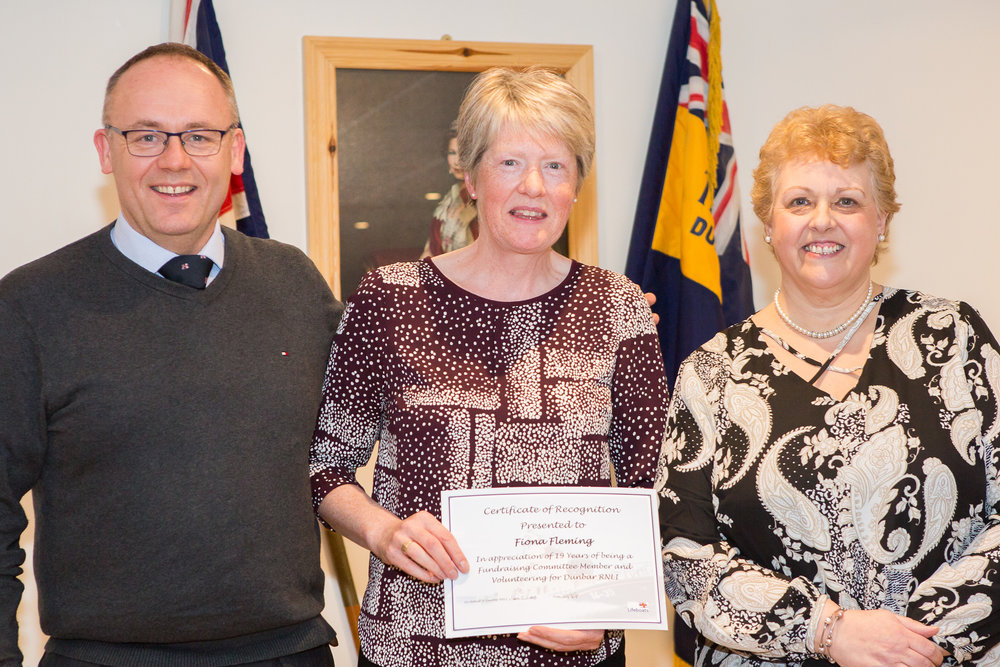 Fiona Fleming (19 years service - Fundraising Committee)