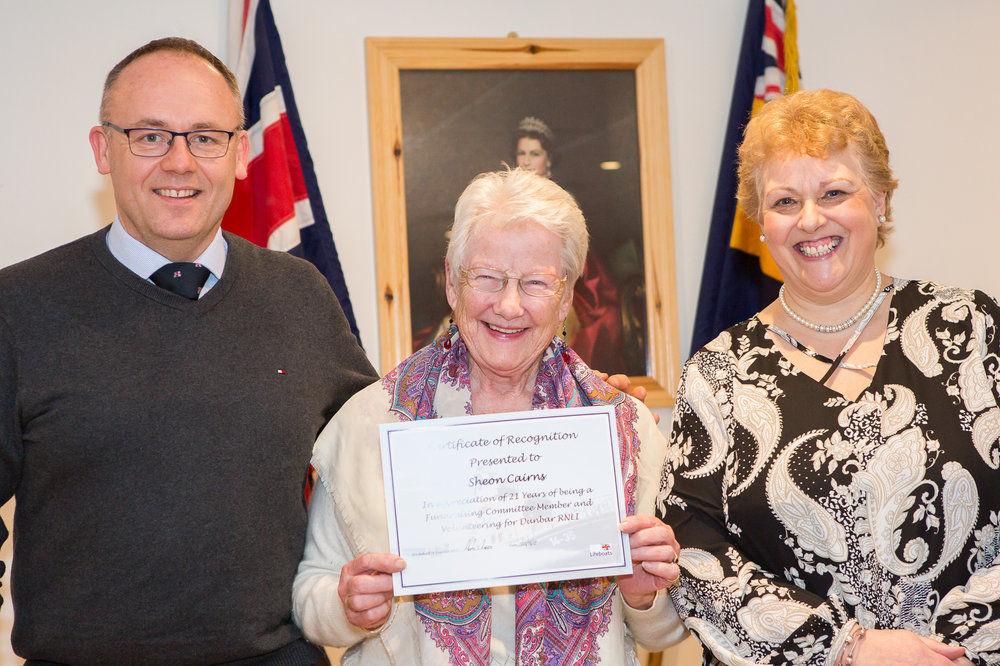 Sheon Cairns (21 years service - Fundraising Committee)