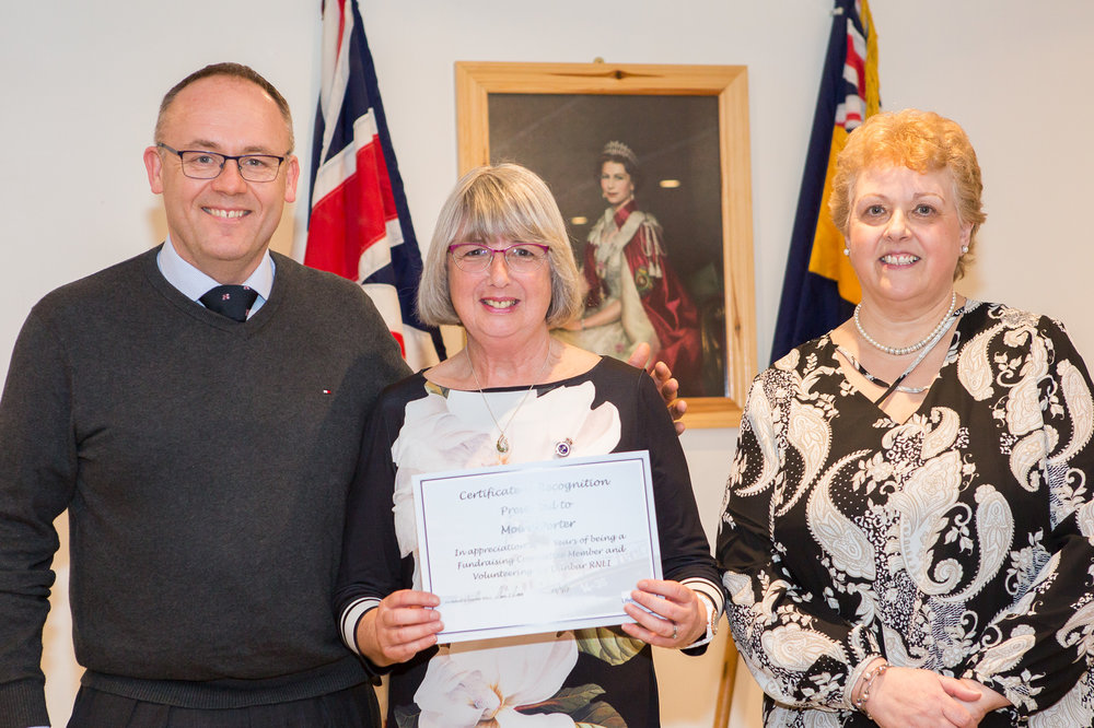 Moira Porter (22 years service - Fundraising Committee)