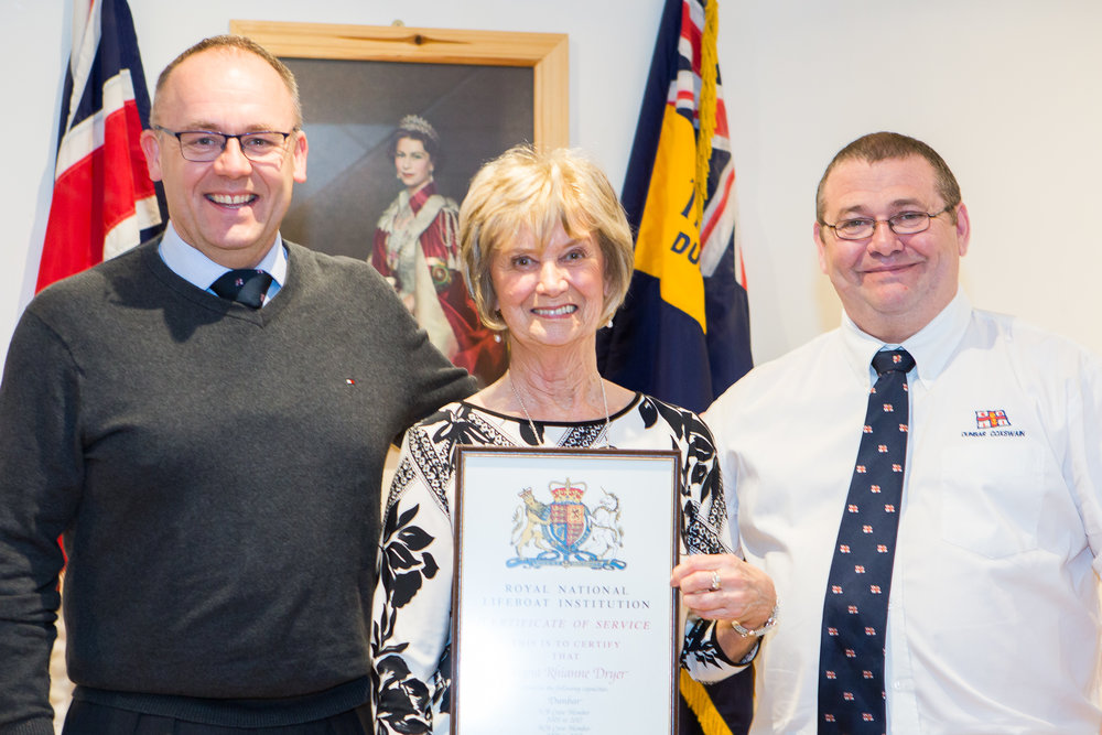 Dayna Dryer (12 years - crew). As Dayna was unable to attend, her award was collected by her grandmother Martha Windram.