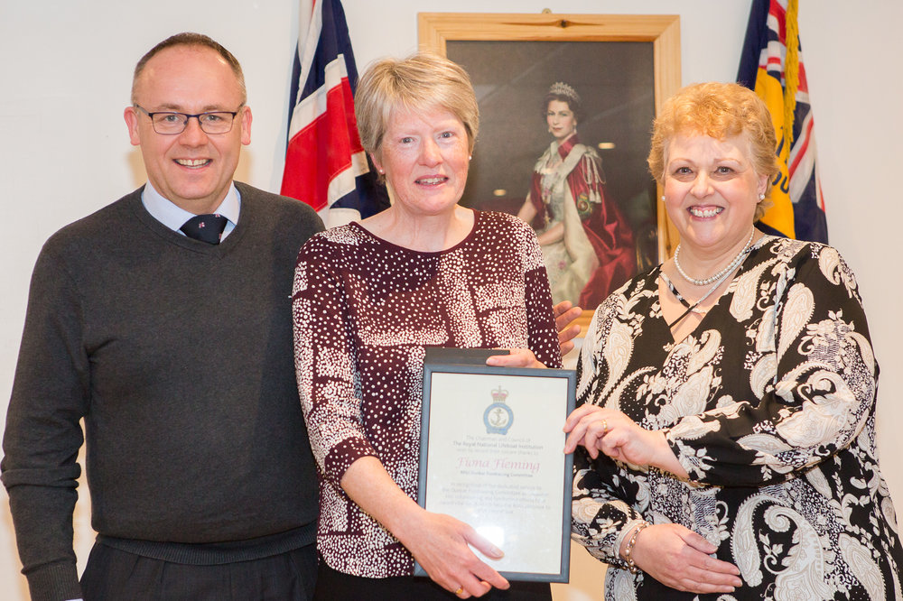 Fiona Fleming (RNLI award for outstanding service to the Fundraising Committee)