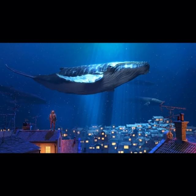 "A remake of my old illustration ""Whale  Rider"" in 3D and animated by @bondokmax . . . #illustration #animation #3d #3danimation #remake #fantasy #skywhale #flyingwhale #artstation #dream #dreamlike #whalerider #magical #digitalpainting #conceptart #3dart #whale"