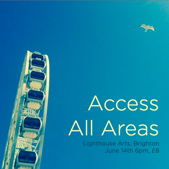 Access All Areas. Geeky vaudeville with expert talks, live hacks and 3D printed brainwaves. June 14th, 2014