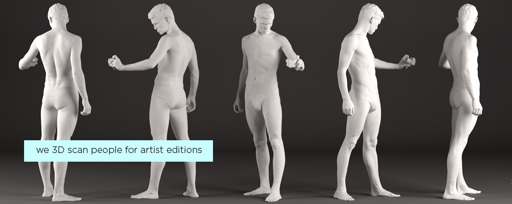 3D scan of a person to produce bronze statue