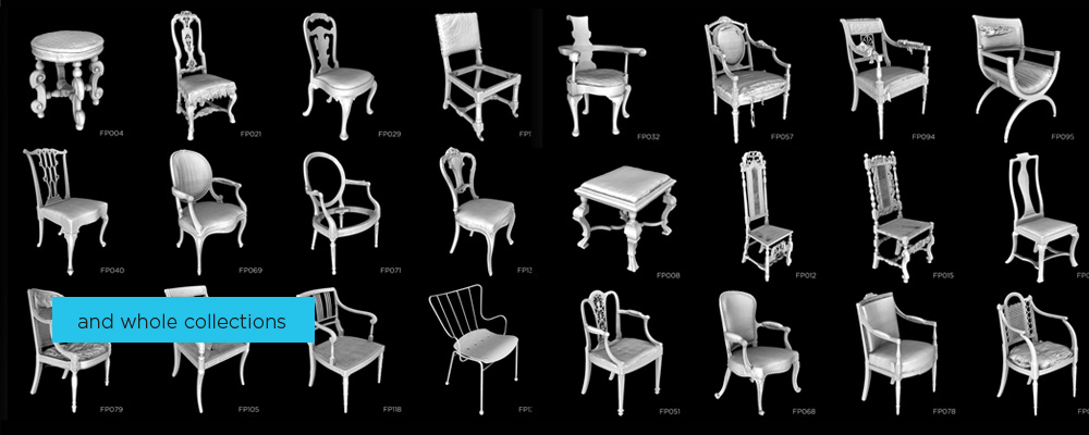 3D scan of a chair collection