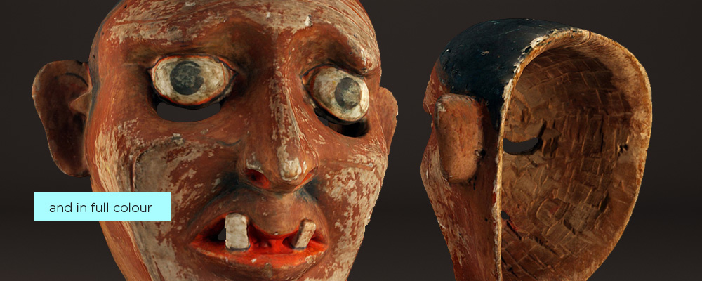 3D scan of a museum artifact in full colour