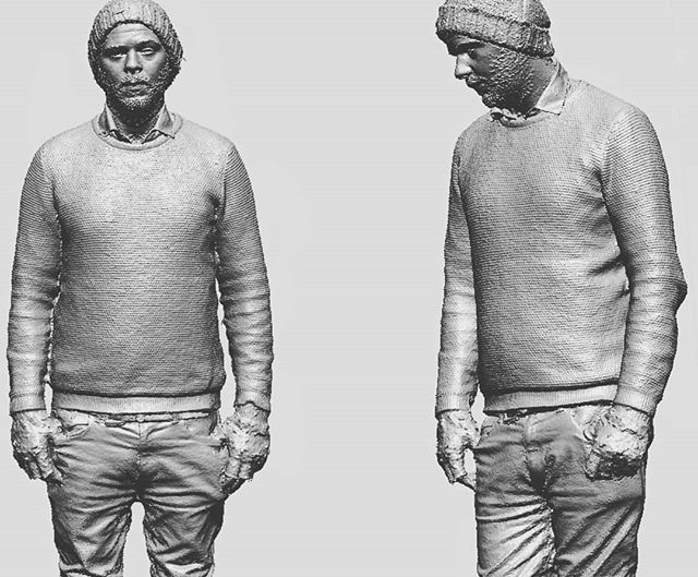 The body scanner is setup this week.  Getting some nice results since we have added some more cameras.  #3dscanning #photogrammetry #oldmansam
