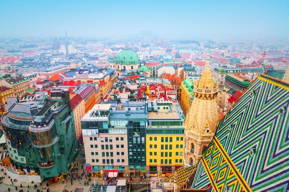 View over Vienna, Austria