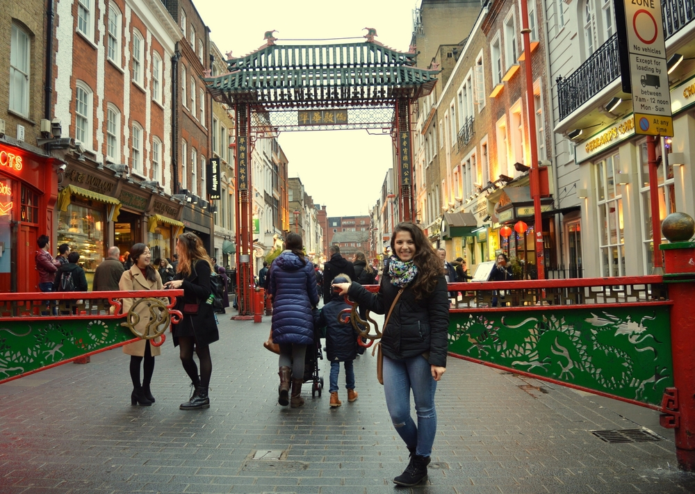 Eva Oláhová in China Town, London.