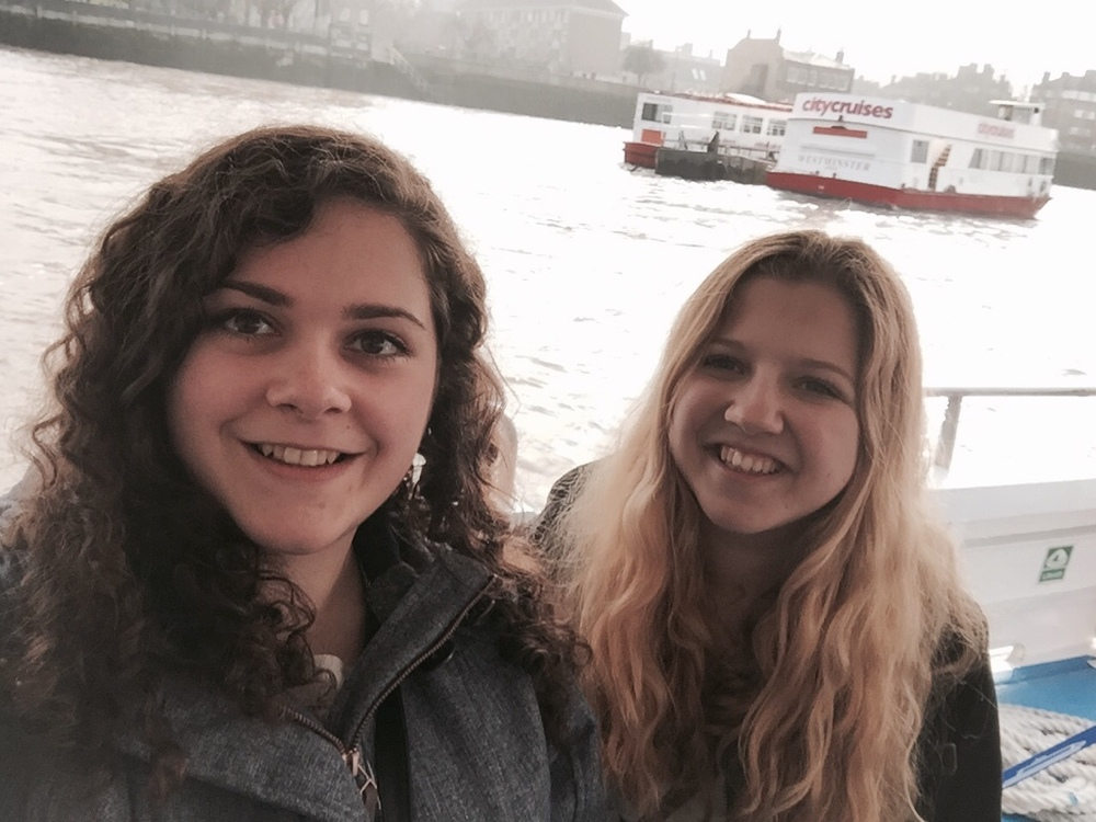 Natascha (on the left) with a friend in London.