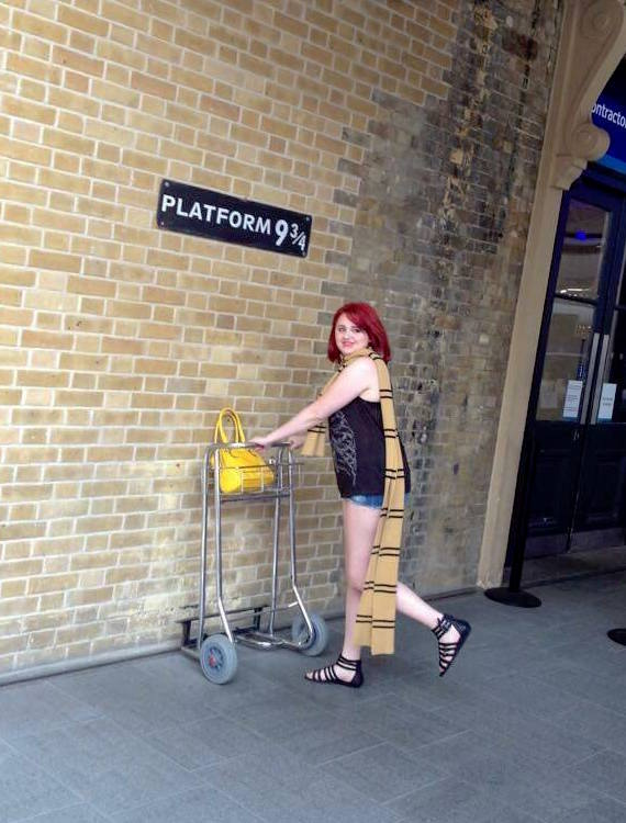Platform 9 ¾, Kings Cross Station.