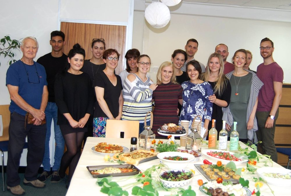 Giulia and the rest of the ADC team at her leaving do.