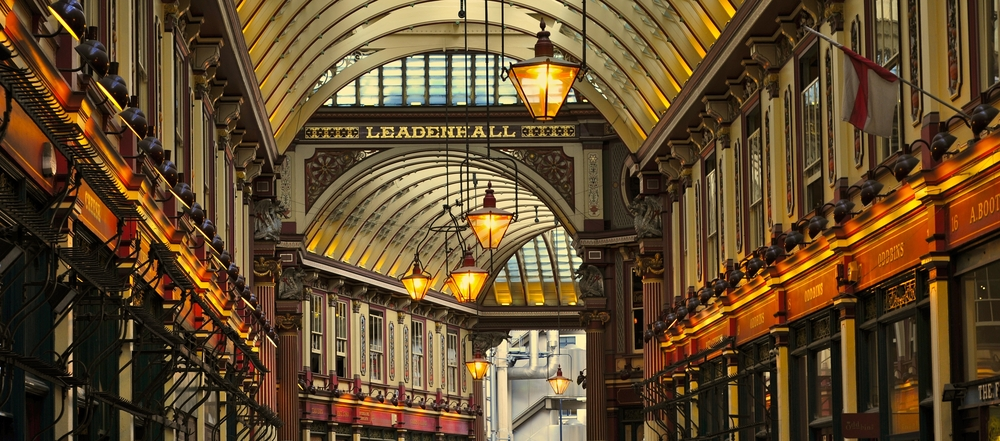 Leadenhall Market was used for the filming of Harry Potter.