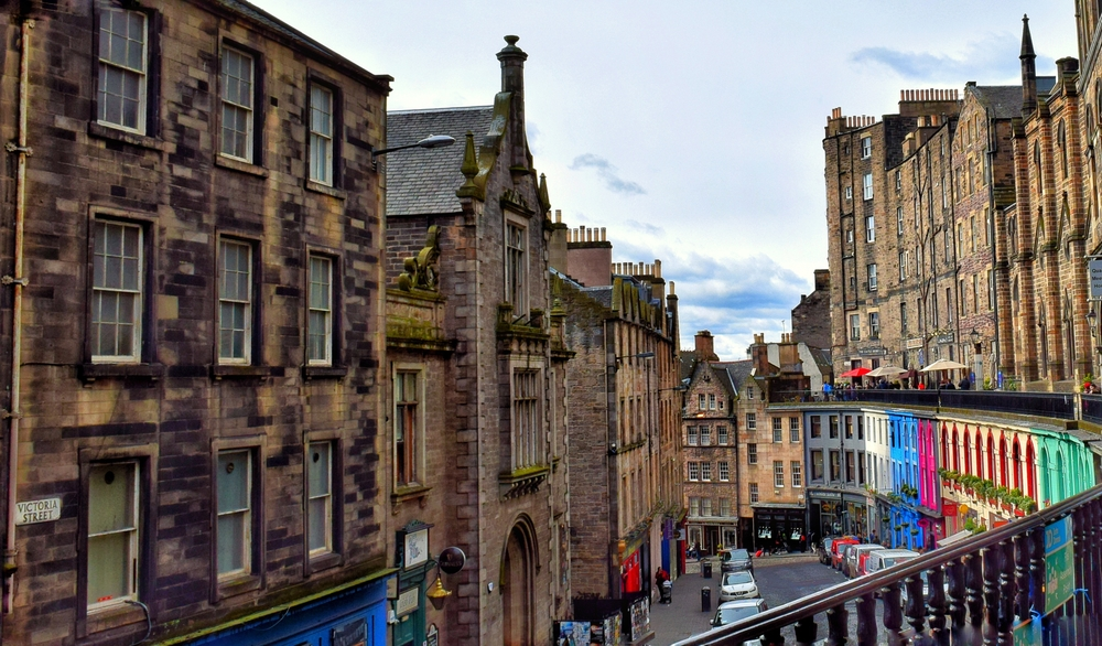 The Edinburgh street where J.K. Rowling wrote most of the first Harry Potter book.