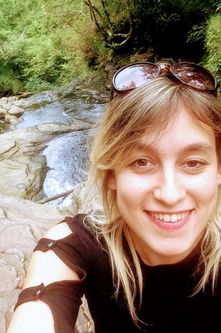 Janine at the Glenbarrow Waterfall.
