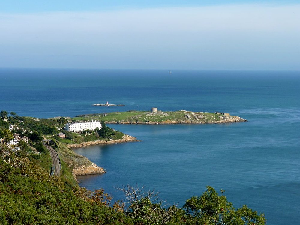 A view over Dalkey Island from Killiney Hill