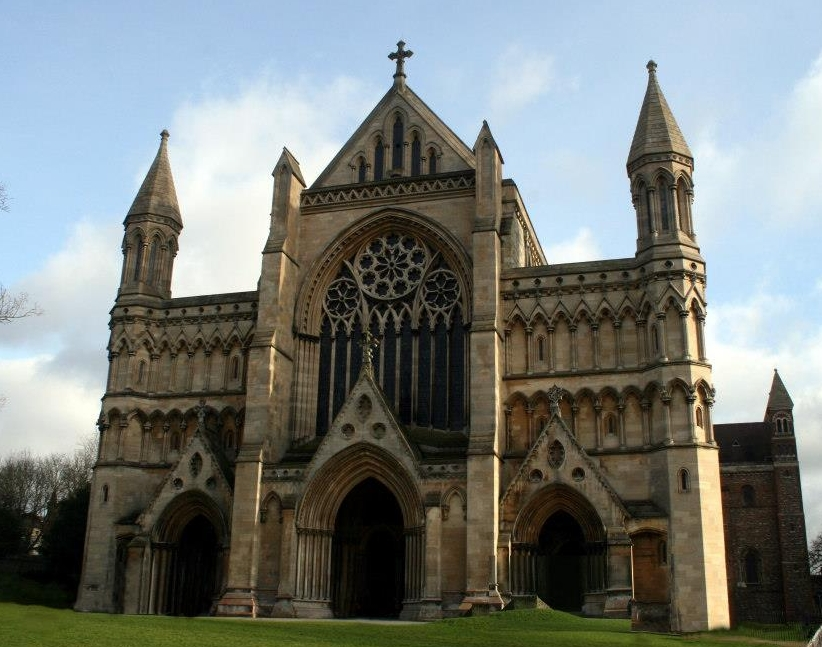 The front entrance of St Alban's abbey