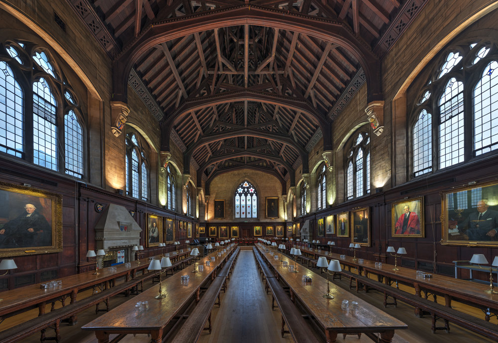 The Balliol College dining hall. Photo by  David Iliff. License: CC-BY-SA 3.0.