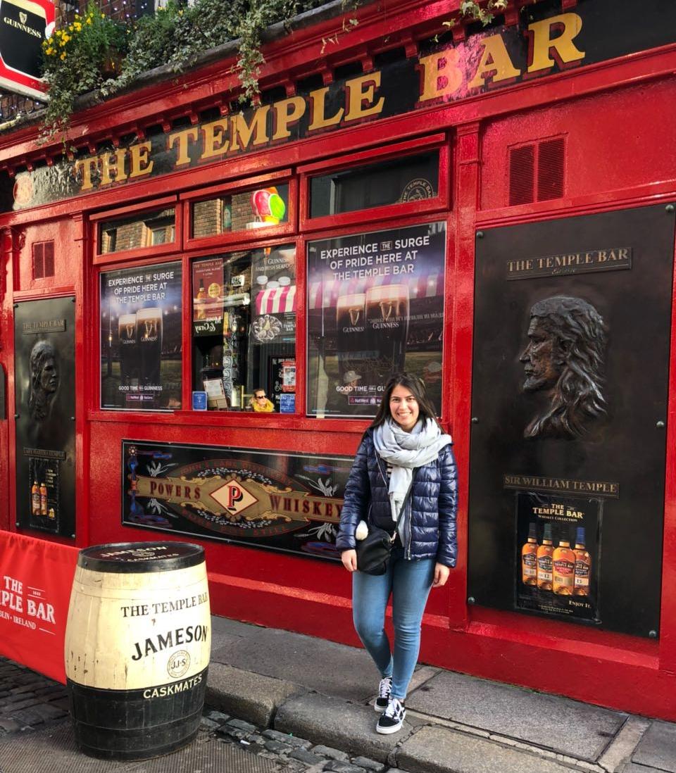 Rabia Konuk in Temple Bar, Dublin.