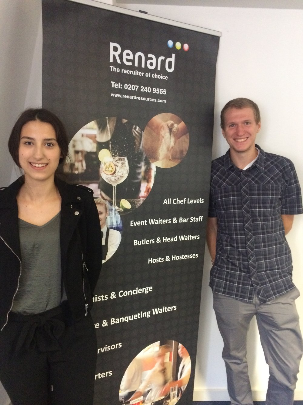 Tatjana and her classmate Clemens at Renard Resources.