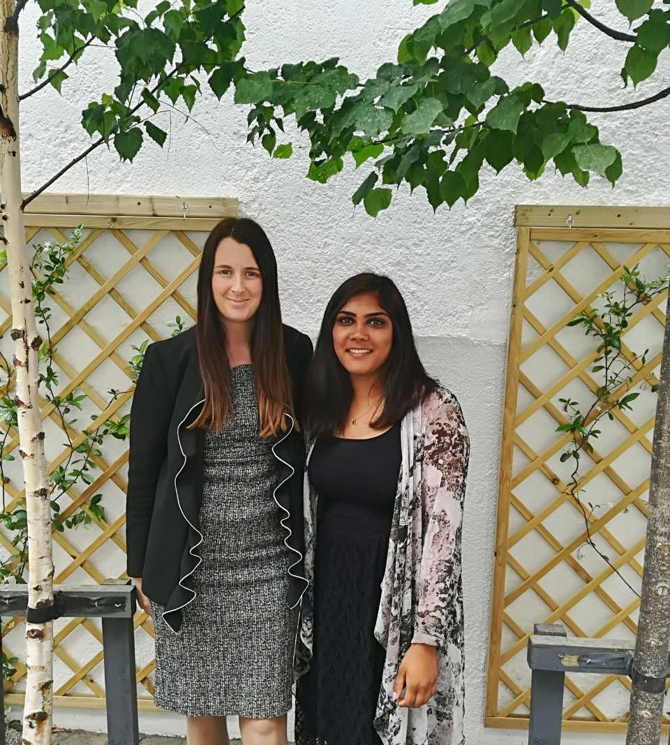 Sarupriya with her supervisor Lisa McKenna.