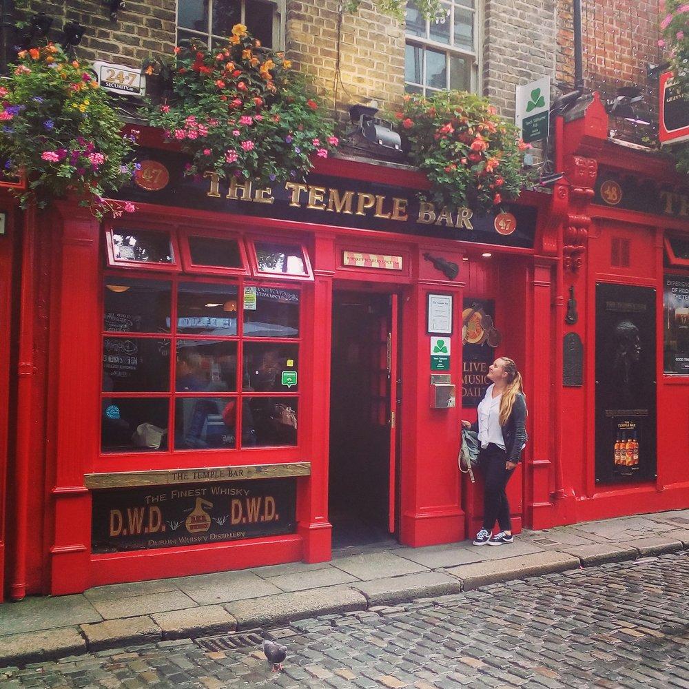 Carina in Temple Bar, Dublin.
