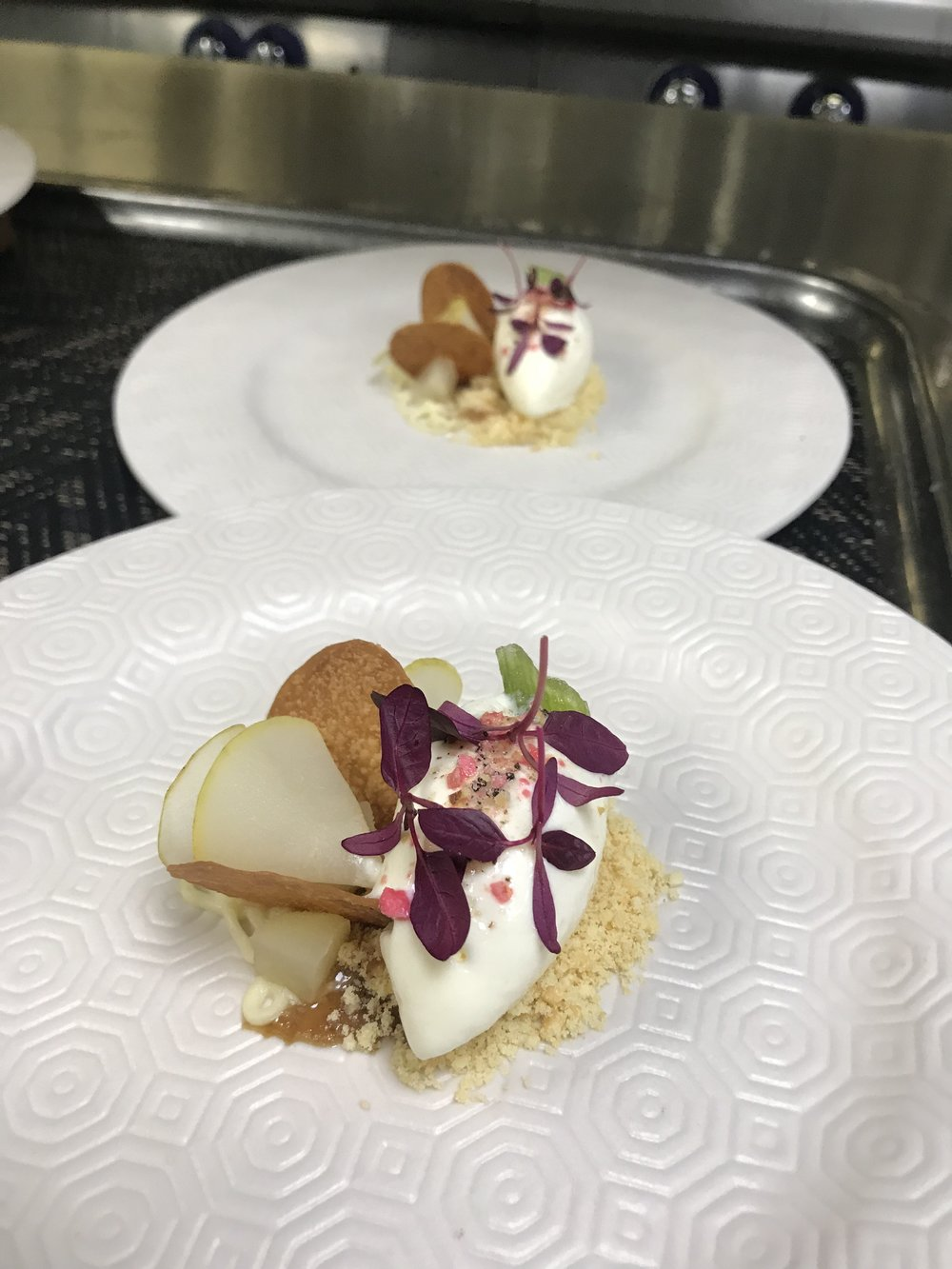 One of the Michelin star quality desserts Matilda helped create.