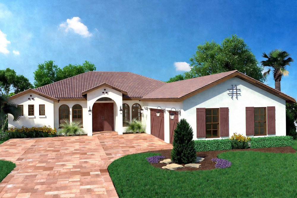 The Azalea Mediterranean Elevation at Ashton Oaks in Sarasota, Florida
