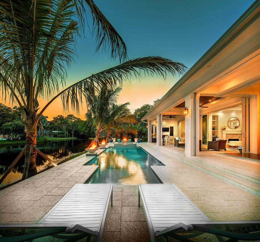 Sarasota Custom Home Luxury Pool and Spa