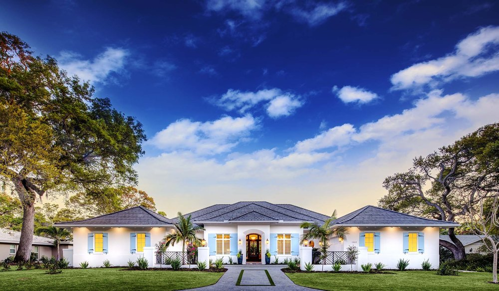 Sarasota Custom Home West Indies Architecture