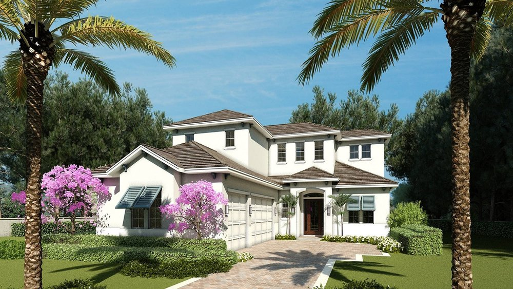 The Aruba | 1618 Bay Road, Sarasota, FL 34231 $1,379,000 | 4 Bedrooms | 3 Full Bathrooms | 1 Half Bathroom | Study | Bonus Room | Pool and Spa