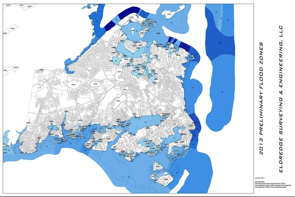 Just a map created in 2013 to help visualize the flood zones that were adopted in 2014. Please note that this does not reflect Letters of Map Change (LOMCs).
