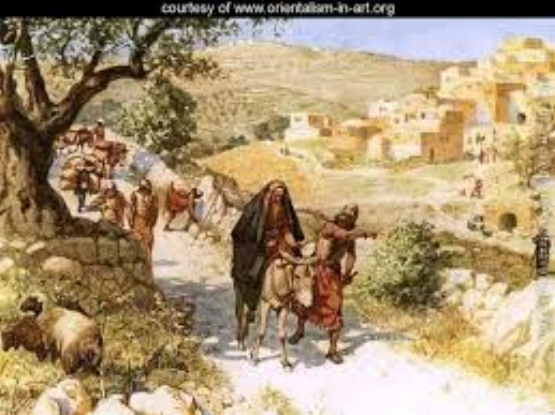 David fleeing Jerusalem - The cursing of David by Shimei