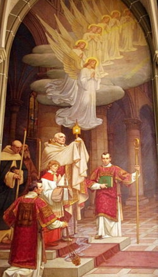 """From St. Mary's Cathedral of the Assumption, in Covington Kentucky: From the Blessed Sacrament Chapel, Duveneck Mural: """"The Bread of Life"""""""