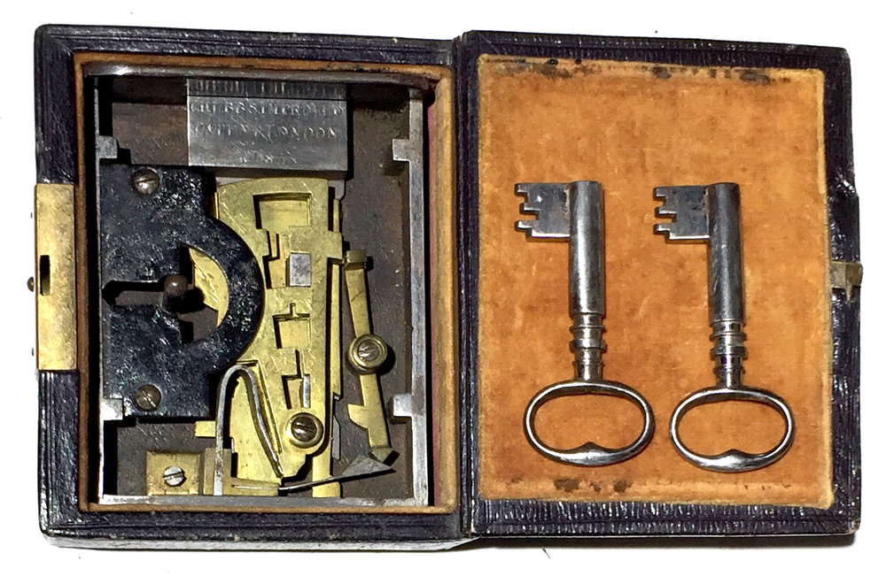 17. Chubb's Patent Detector Lock. Sold: $2,850