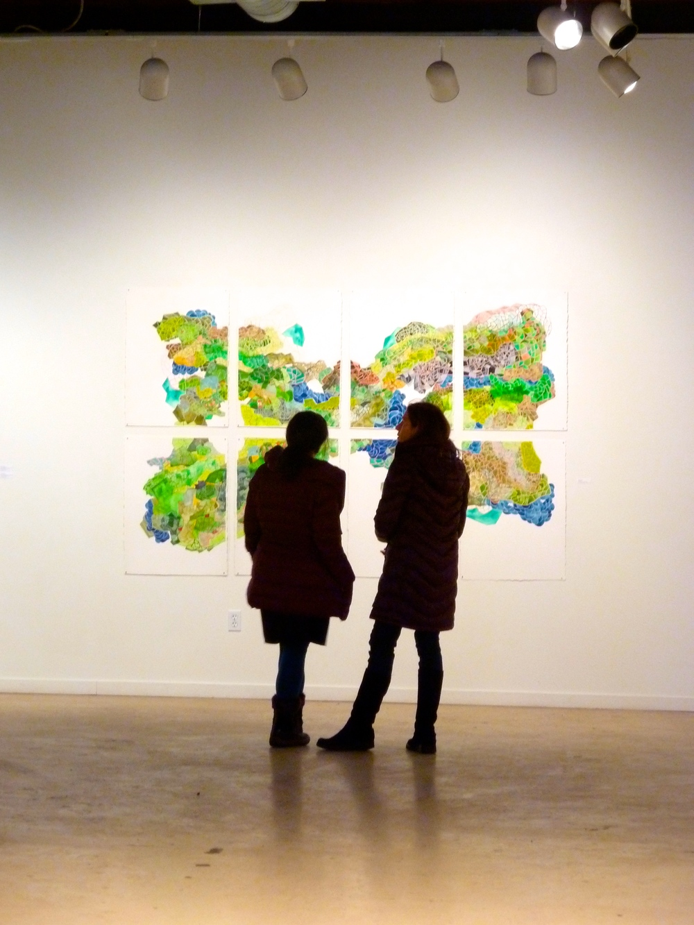 Unquiet Mind , 2014. Installation view,Soo Visual Arts Center, Minneapolis, MN, 2014.