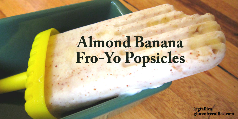 Almond Banana FroYo Popsicles | Gluten Free Allies