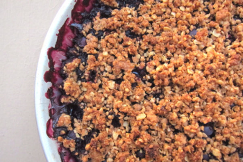 Blueberry Lemon Crumble | Gluten Free Allies