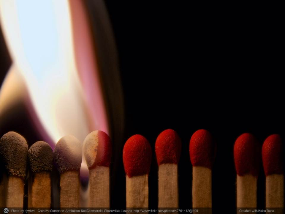 """ Playing with Matches "" by  Dennis Wilkinson  is licensed under  CC BY 2.0"