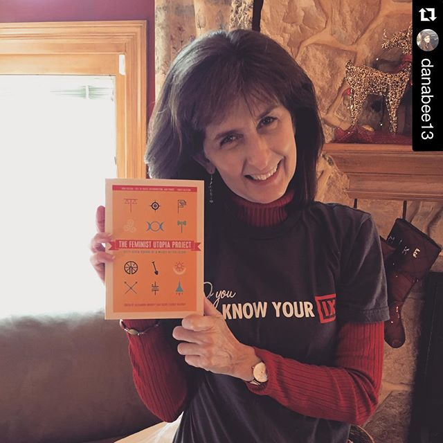 Send us your #feministutopia holiday moments!  #Repost @danabee13 with @repostapp. ・・・ She was so excited to find her copy of the @thefeministutopiaproject under the tree this morning! #feministutopia