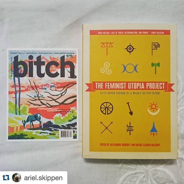 Hope you enjoy!  #Repost @ariel.skippen with @repostapp. ・・・ Just received my #prize from Bitch Media in the mail today! Super excited to get stuck into The Feminist Utopia Project 👏📕👏 Huge thank you to @thefeministutopiaproject and @bitchmedia #books #feministutopia #feminism