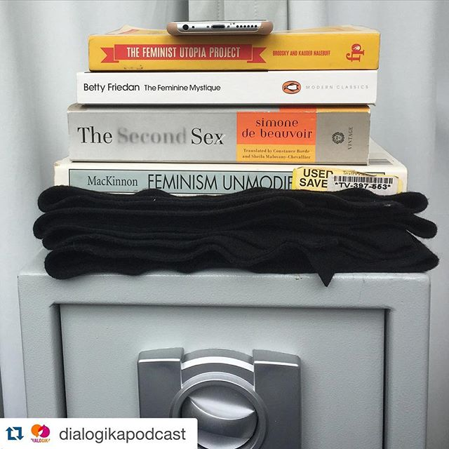 What company!  #Repost @dialogikapodcast with @repostapp. ・・・ Only the best in #chicagoschoolofengineering for our podcast! Also if you haven't read any of these books... You should. #feminism #simonedebeauvoir #secondsex #feministutopia #bettyfriedan #femininemystique #catharinemackinnon #feminismunmodified