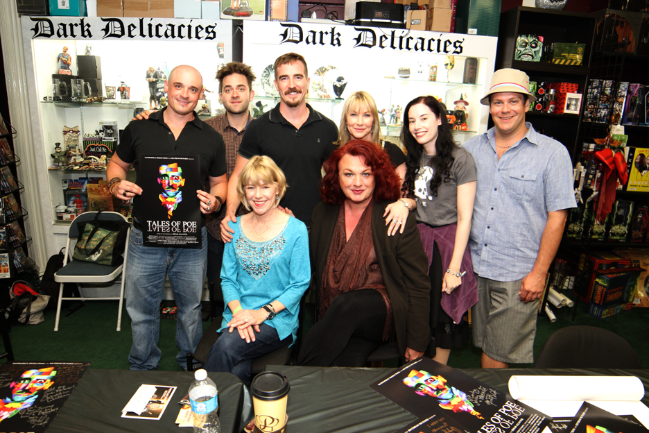 Dark Delicacies Poster Signing for TALES OF POE - Bart Mastronardi, Michael Varrati, Adrienne King, Brewster McCall, Caroline Williams, Alan Rowe Kelly, Bette Cassatt & Tom Burns.